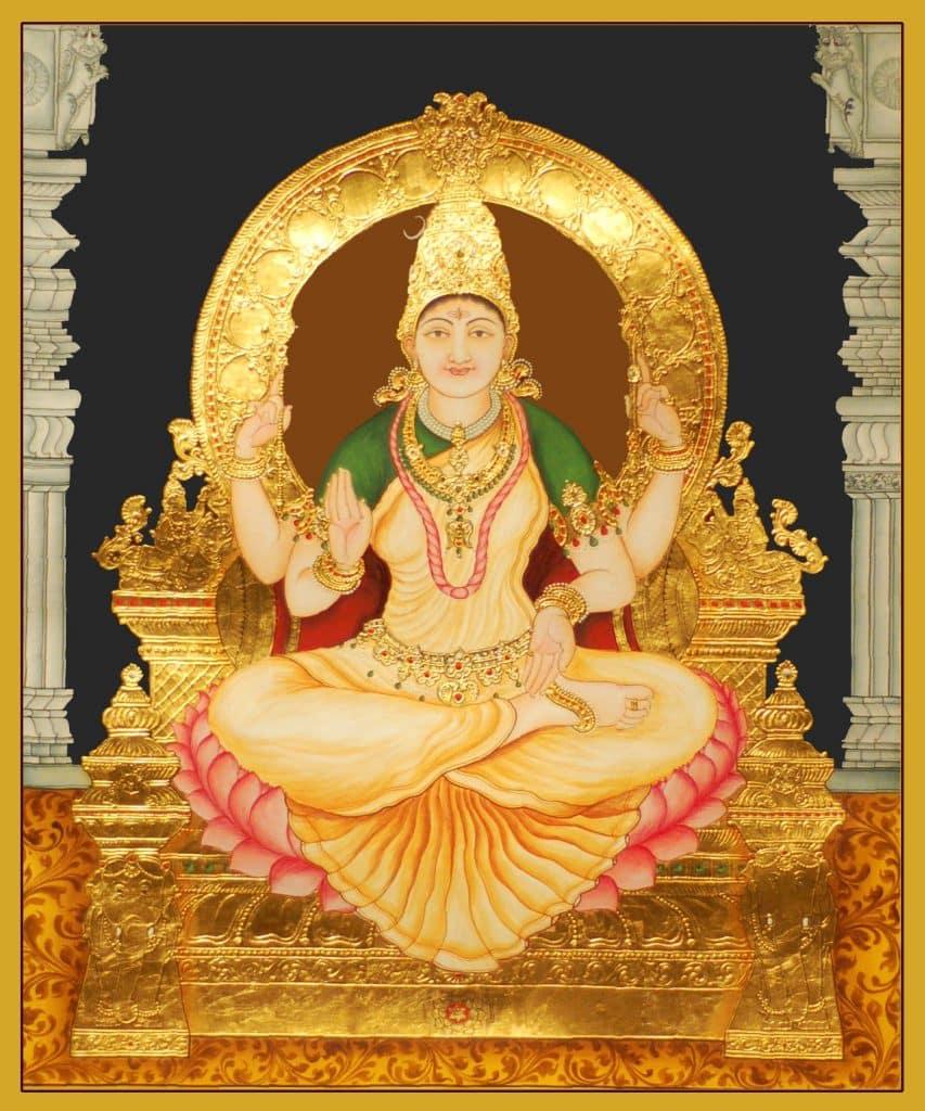Madhurya - Goddess Bhuvaneswari Tanjore Painting