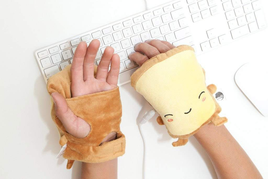 Wearable Fingerless USB Powered Toast Hand Warmers - Smoko