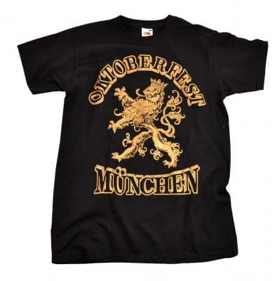 Oktoberfest Shirt München 'Löwe Gold'