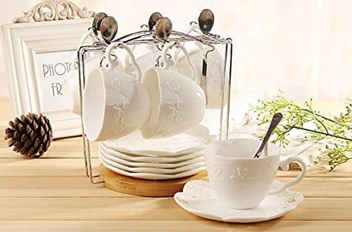 Jusalpha - Tea Cup and Saucer Set